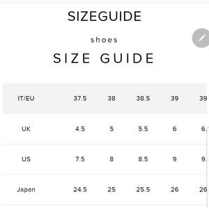 Jimmy Choo shoe size, for those that don't know.